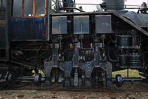 Willamette locomotive - cylinder detail