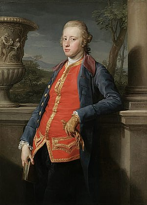 William Cavendish, 5th Duke of Devonshire - William Cavendish, 5th Duke of Devonshire, painted in Rome by Pompeo Batoni, 1768
