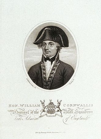 William Cornwallis - Admiral William Cornwallis after a Portrait by Daniel Gardner, Published in the Naval Chronicle