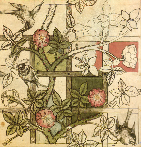 File:William Morris design for Trellis wallpaper 1862.jpg