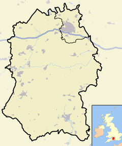 Wiltshire outline map with UK (2009)