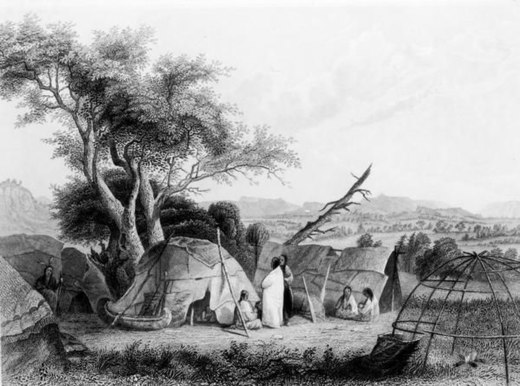 Winnebago family in 1852