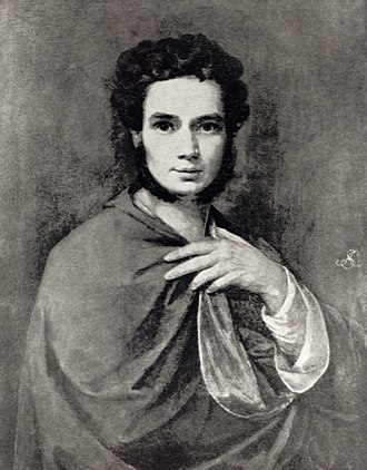 Wojciech Stattler - Stattler, Self-portrait, 1828;  oil painting stolen in World War II