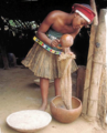 Woman Beginning the Beer Brewing Process.png