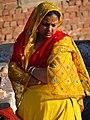 Woman on Rooftop - Agra - Uttar Pradesh - India (12612936204).jpg