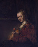 Woman with a Pink.JPG