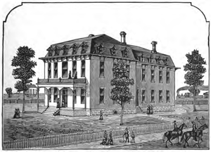 Lausanne Hall - Original hall in 1884