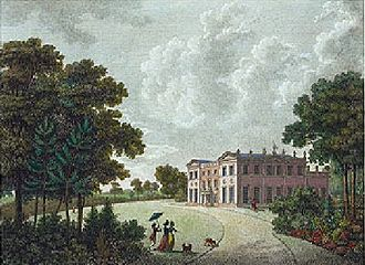 Woolton Hall - A 1781 Watercolour of Woolton Hall by Paul Sandby