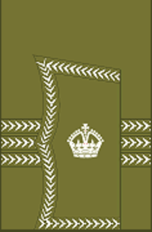 Major (United Kingdom) - Image: World War I British Army major's rank insignia (sleeve, general pattern)
