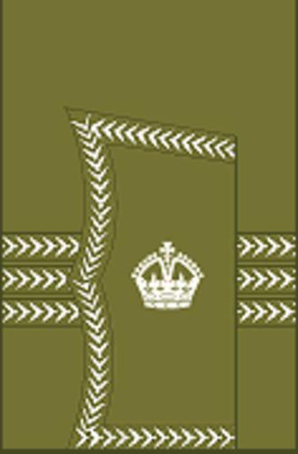 Major (United Kingdom) - Image: World War I British Army major's rank insignia (sleeve, general pattern)
