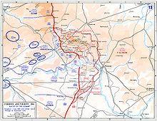 Il piano d'avanzata anglo-francese nei piani del 1º luglio.