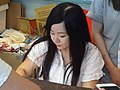 Wu Rouxuan's signing event at Comic Exhibition infomation desk 20180818a.jpg