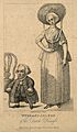 Wybrant Lolkes, a dwarf with his wife. Stipple engraving by Wellcome V0007174.jpg