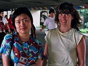 Xie Jun und Barbara Hund 1992 Manila