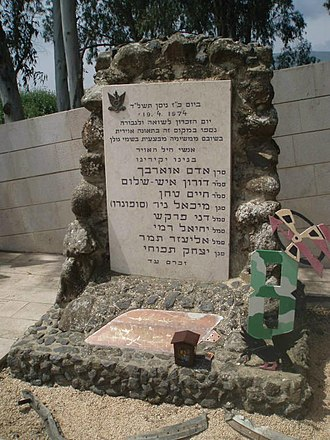 1974 in Israel - The memorial for the victims of the Mahanayim disaster