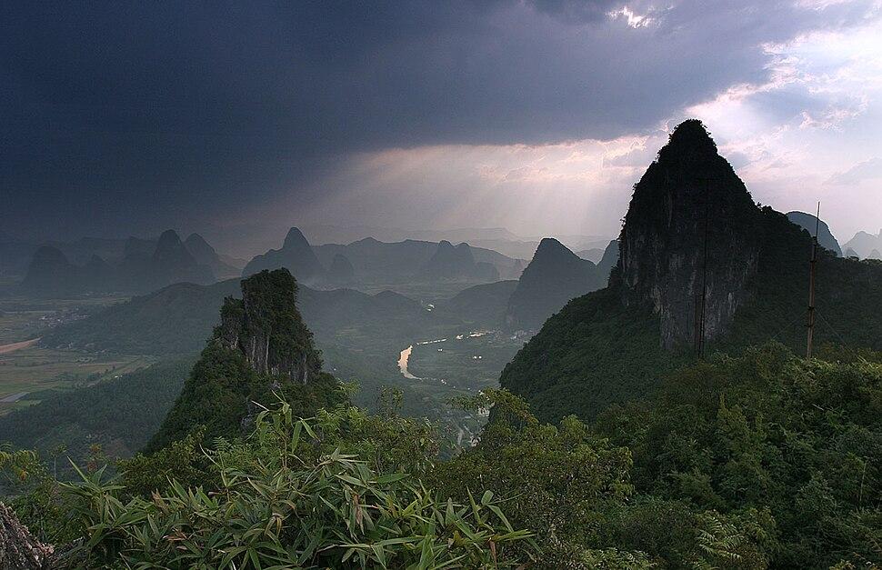 Yangshuo moon hill