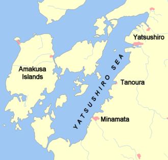 Amakusa - Amakusa islands at Yatsushiro Sea, in Japan. The largest island (left) is Shimoshima.
