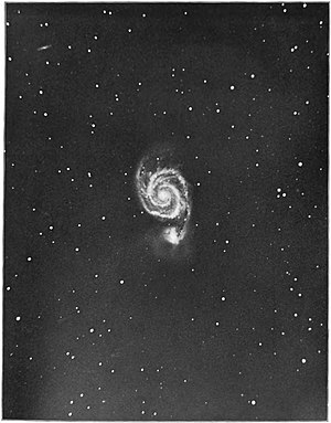 Yerkes Observatory - A photo of the Messier 51 galaxy taken on June 3, 1902 at the Yerkes Observatory