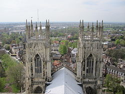 A view of York (West) from York Minster main tower