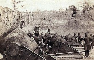 Siege of Yorktown (1862) - Image: Yorktown artillery 2