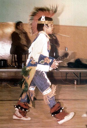 Blackfoot music - Young Blackfoot dancer, Alberta. 1973