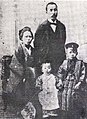 Young Ohsawa with his mother, father and little brother.jpg