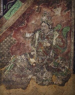 Yulin Caves - Image: Yulin Cave 4 e wall lokapala (Yuan)