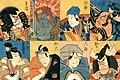 Zōhiki, Shibaraku, Uirō, Rokubu, Fudō, Sukeroku, Kagekiyo, Gorō.jpg