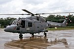 ZF562, (AZ-320), Westland Lynx HAS.3CTS,(WA.339), Fleet Air Arm, 815 Squadron, HMS Amazon Flight, RAF Belize, 13-08-1991 (24498229608).jpg