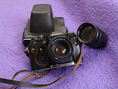Zenit 11 and 135 mm lens (4002629368).jpg