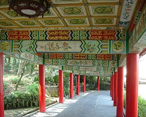 Zhinan Temple - Long Corridor leading to Lingxiao Chapel