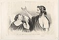 """""""Oui c'est Agamemnon c'est ton Roi qui t'éveille!..."""" (Iphigénie), plate 13 from the series Physionomies tragico-classiques, published in Le Charivari MET DP832856.jpg"""