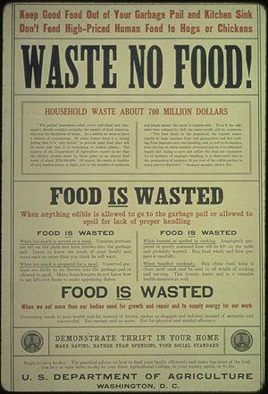 """""""Waste No Food... Food is Wasted... Food ..."""