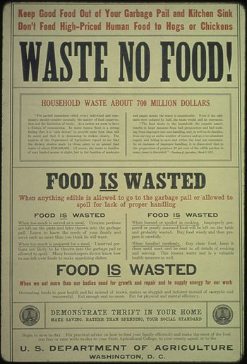 """Waste No Food... Food is Wasted... Food ..."