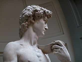David (Michelangelo) - Close-up of David.