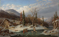 'Winter Landscape, Laval', oil on canvas painting by Cornelius Krieghoff, 1862, National Gallery of Canada.jpg
