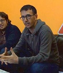 (Héctor Tejero) Así salvamos el mundo. una visita desde el 2050. Emilio (ITReC) y Héctor (Contra el diluvio).jpg