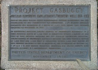 Project Gasbuggy - Image: *Project Gasbuggy top placard