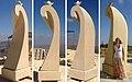 «На гребені хвилі», 2014, пісковик, 355x100x100 см, Равабі, Палестина.jpg
