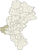 Location in the voivodeship