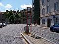 Žatec, náměstí Prokopa Velkého, tramvajová trať, zastávka (01).jpg