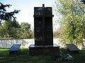Братська могила радянських воїнів, с. Оженин, біля будинку сільської Ради.JPG