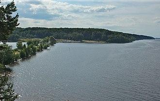 Kineshemsky District - Reshemka river mouth and the Volga River