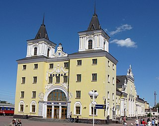 Bakhmach City in Chernihiv Oblast, Ukraine