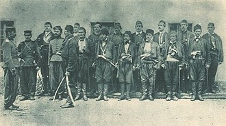 History of the Serbian Army - Serbian soldiers (1854).