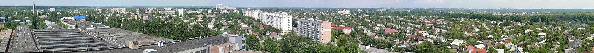 """Панорама северной части Боярки. Вид с крыши админкорпуса бывшего завода """"Искра"""""""