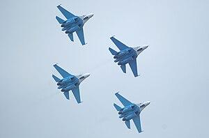 4th Centre for Combat Employment and Retraining of Personnel - Image: Пилотажная группа Соколы России