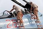 Подготовка самолетов российской авиагруппы в Сирии к вылетам (13).jpg