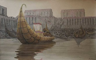Eridu - Re-creation of the port at Eridu.