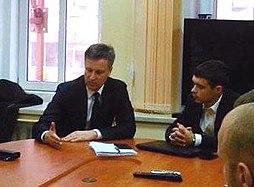 Савкін Олександр (зправа) та Валентин Наливайченко